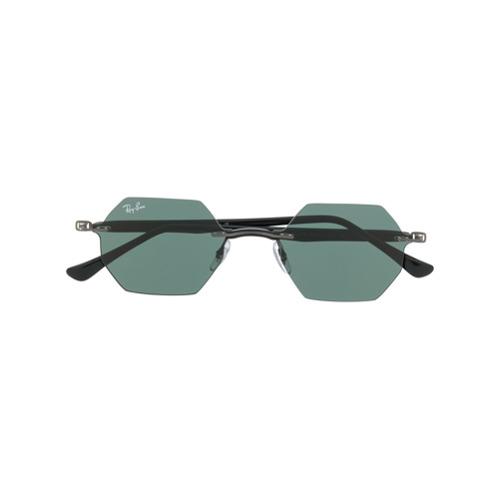 Ray-Ban Óculos de Sol Hexagonal - Preto