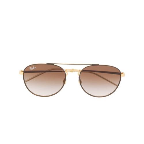 Ray-Ban Óculos de Sol Oversized - Dourado