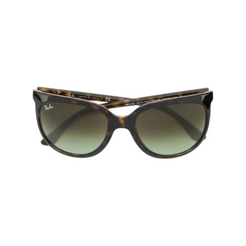 Ray-Ban Óculos de Sol Oversized - Marrom