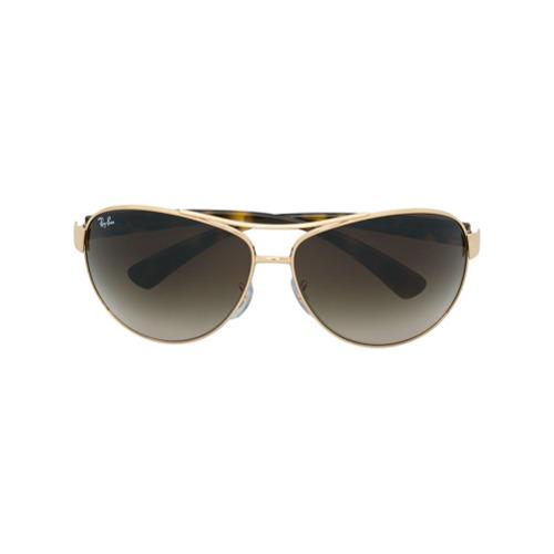 Ray-Ban Óculos de Sol Oversized - Metálico