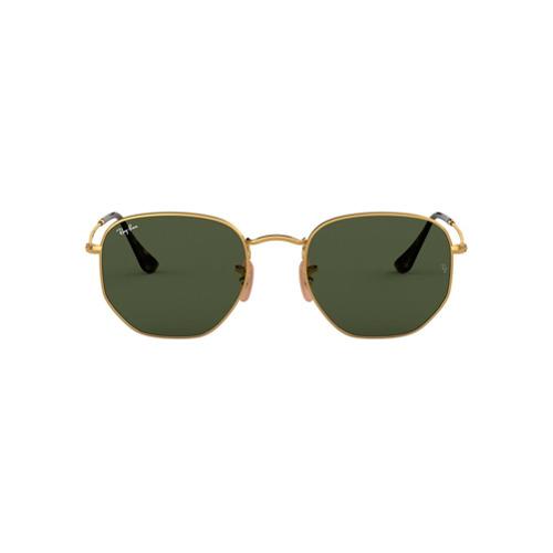 Ray-Ban Óculos de Sol Quadrado - Dourado