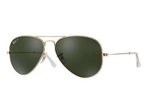 Ray-Ban Rb3025L Rb3026L 001/58 Aviador Polarizado - Dourado/verde (Verde, M)