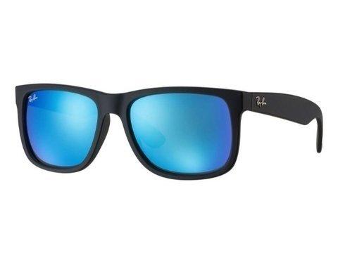 Ray-Ban Rb4165 622/55 54-16 Justin Azul Espelhado (Azul)