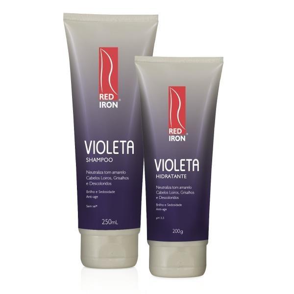 Red Iron Matizador Violeta Kit Shampoo 250ml + Hidratante Violeta 200g