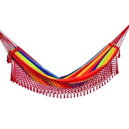 Rede de Dormir Casal Arco-íris