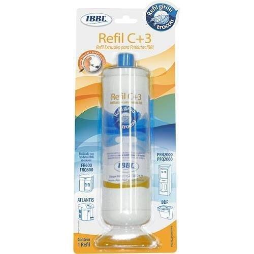 Refil C+3 Filtro Purificador de Água Ibbl