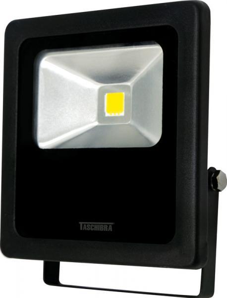 Refletor de Led 10 W Preto 6500K Taschibra Bivolt