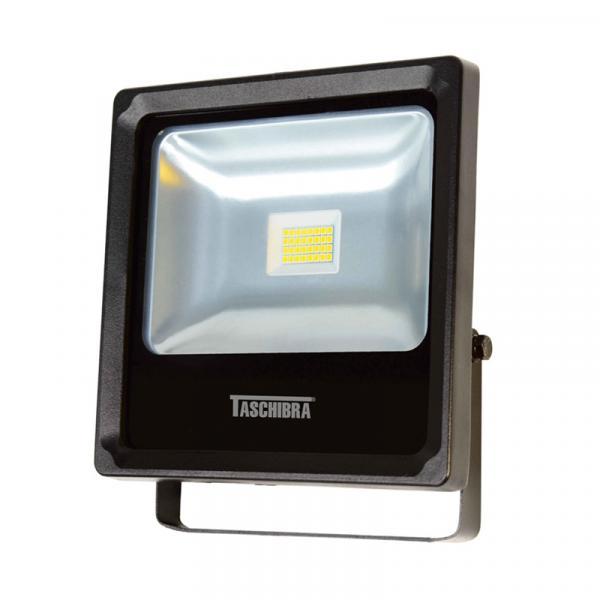 Refletor LED 20W 3000K em Alumínio Preto TR 20 Taschibra
