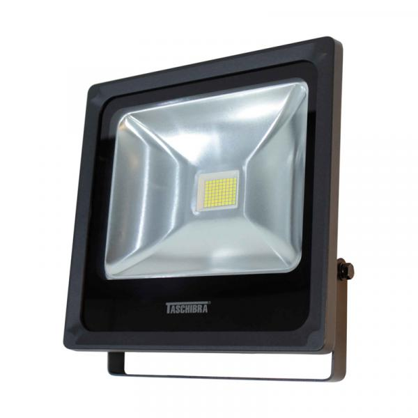 Refletor LED 50W 3000K em Alumínio Preto TR Taschibra