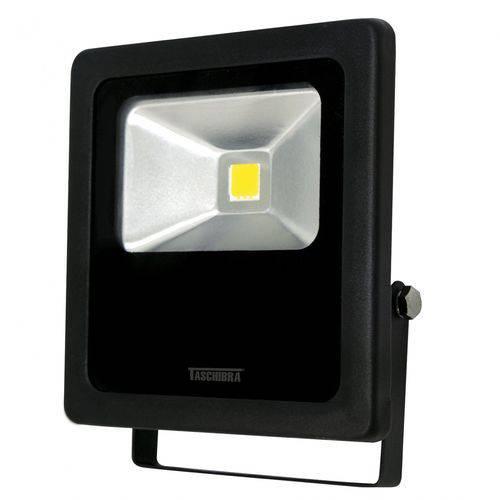 Refletor LED 50W Preto TR Taschibra 3000K Luz Amarela