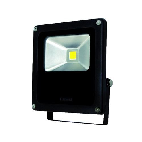 Refletor LED Taschibra Retangular Metal Preto 50W Bivolt