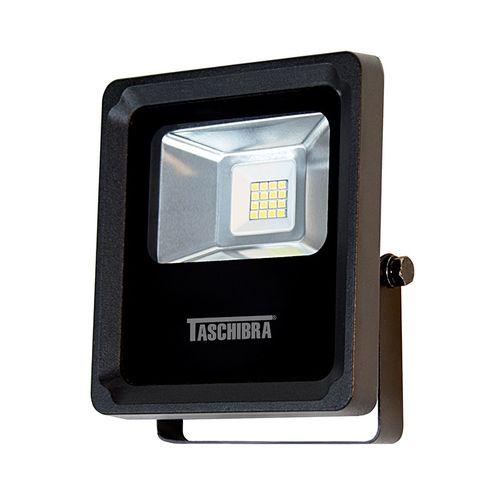 Refletor Led Tr 10 8w 3000k Preto Taschibra