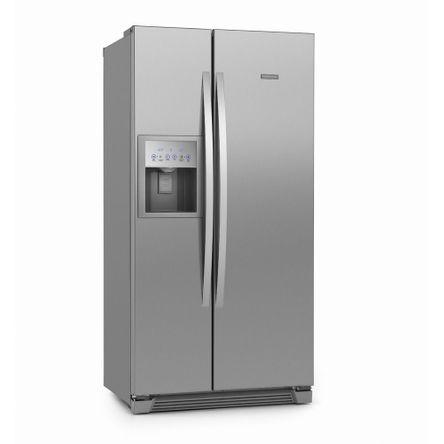 Tudo sobre 'Refrigerador Side By Side Frost Free 504L Titanium (SS72X) 127V'