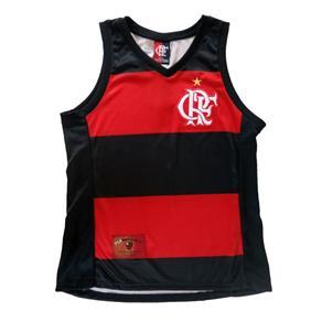 Regata Braziline Flamengo Hoop Crf Feminino - G - VRM/PRT