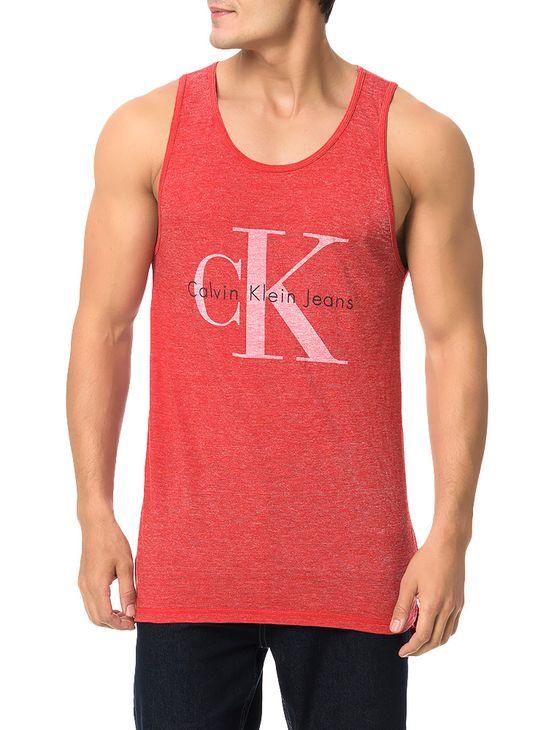 Tudo sobre 'Regata Calvin Klein Jeans Logo Ck Vermelho - GG'