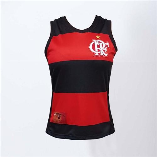 Regata Feminina Flamengo Decote V Hoop CRF P