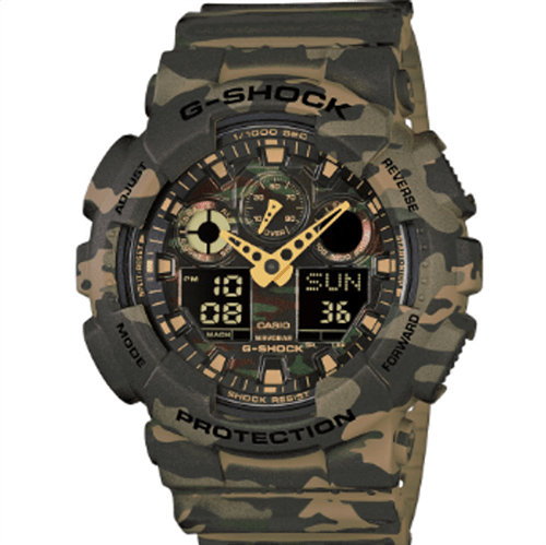 Tudo sobre 'Relógio Casio G-SHOCK Camo Series GA-100CM-5ADR 0'