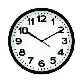 Relógio de Parede 30cm - Preto