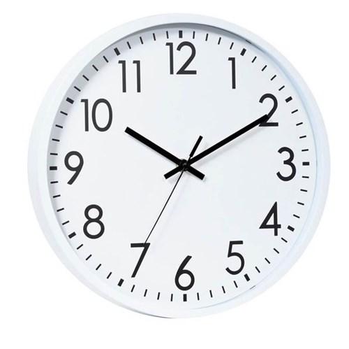 Relógio de Parede Branco e Preto 30CM - 34446