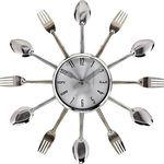 Relógio de Parede CriativoFormato de Talheres para Cozinha