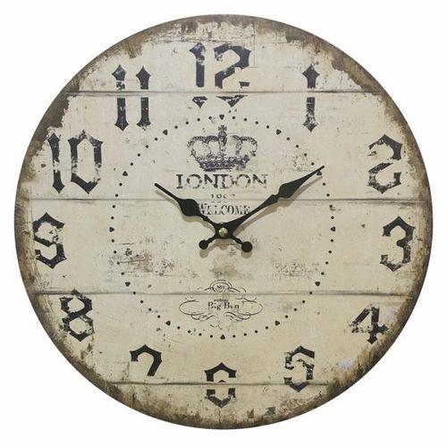 Relógio de Parede em Madeira London Ø34cm