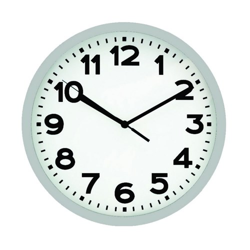 Relógio de Parede Prata 20Cm