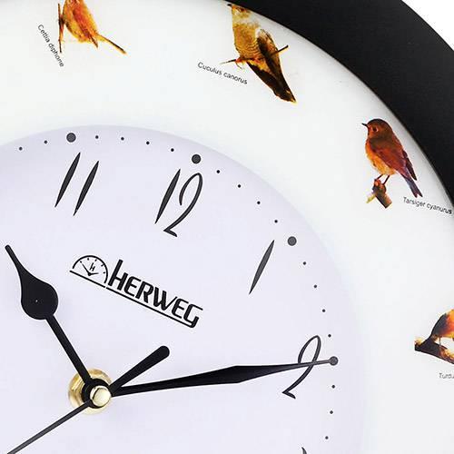 Tudo sobre 'Relógio de Parede Quartz Preto - Herweg'