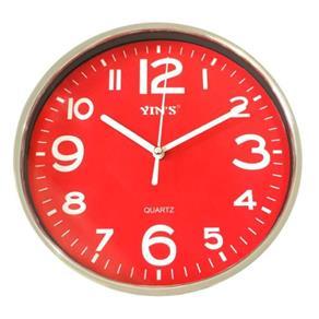 Relógio de Parede Redondo 20 Cm - Vermelho