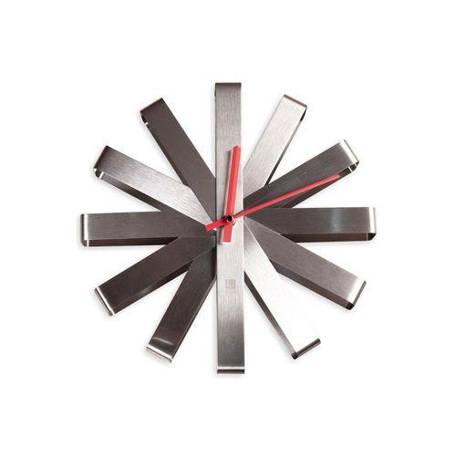 Relógio de Parede Ribbon 30cm Prata