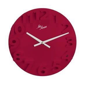 Relógio de Parede Vermelho Redondo 30cm