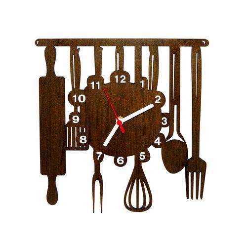 Relógio Decorativo - Modelo Cozinha - ME Criative - Tabaco Envelhecido