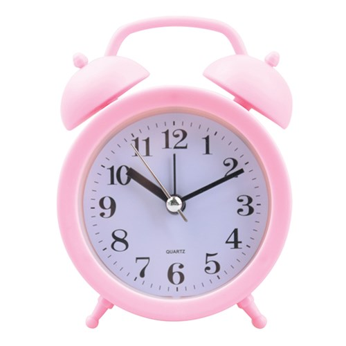 Relógio Despertador de Mesa Rosa