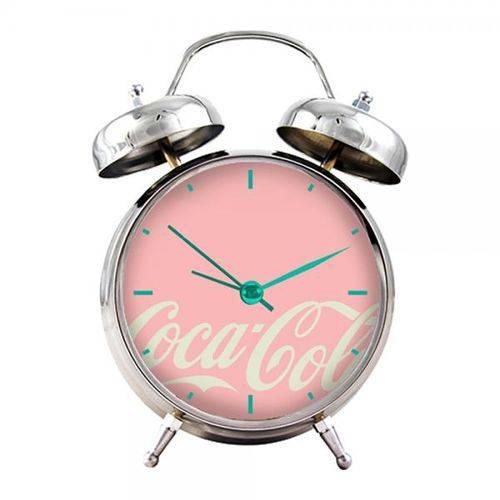 Tudo sobre 'Relógio Despertador de Metal Coca-cola 16cmx11cmx06cm'