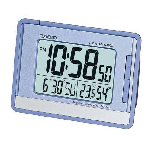 Tudo sobre 'Relógio Despertador Digital Casio C/ Calendário e Termômetro Dq-980-2DF'