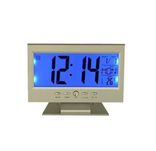 Relógio Digital Mesa Retangular Despertador Calendário