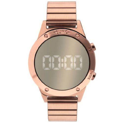 Tudo sobre 'Relógio EURO Digital com Lente Espelhada Rosê'