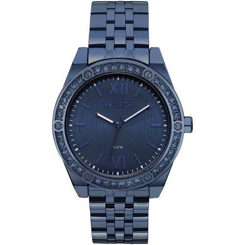 Relógio Euro Feminino Pedras Azul - EU2035YNP/4A