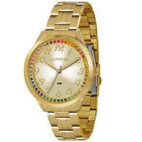 Relógio Feminino Analógico Lince Feminino LRG4325L C2KX - Dourado
