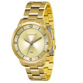 Relógio Feminino Analógico Lince Pulseira em Aço 3ATM LRG4322L C2KX - Dourado
