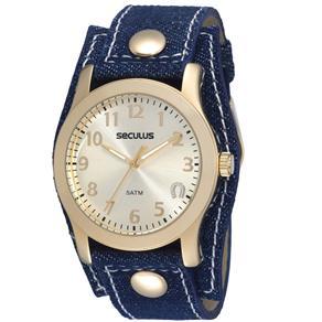 Relógio Feminino Analógico Seculus 20126LPSCDD1 - Azul