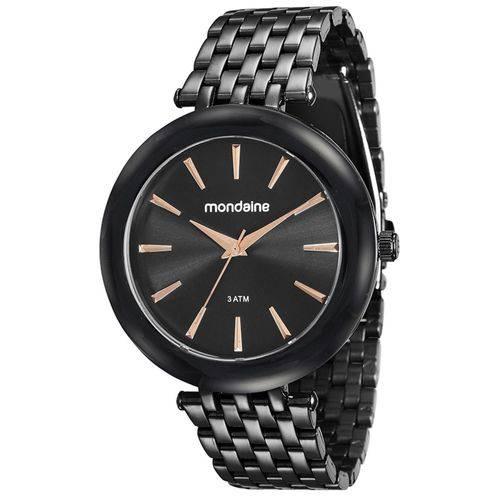 Relógio Feminino Mondaine 76559LPMVPE4 42mm Pulseira Aço Preta