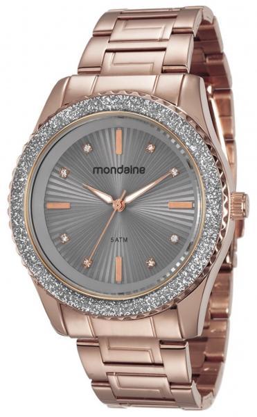 Relógio Feminino Mondaine 76568LPMVRE7 43mm Aço Rosê