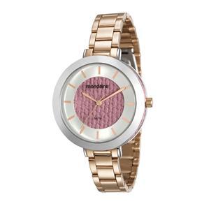 Relógio Feminino Prata e Rose Mondaine 99172LPMVRE4