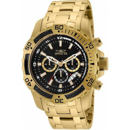 Tudo sobre 'Relógio Invicta Pro Diver 24855 Banhado a Ouro 18k Masculino'