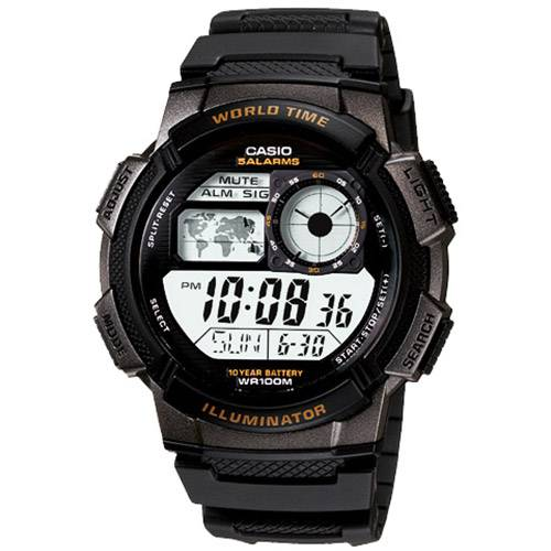 Tudo sobre 'Relógio Masculino Casio Esportivo HoraMuldial 48 Cidades AE-1000W-1AV'