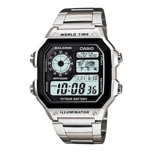 Tudo sobre 'Relógio Masculino Digital Casio Multifunção AE-1200WHD-1AVDF'