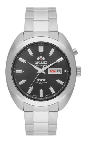 Relogio Masculino Orient Automatico Prata 469SS077-G1SX