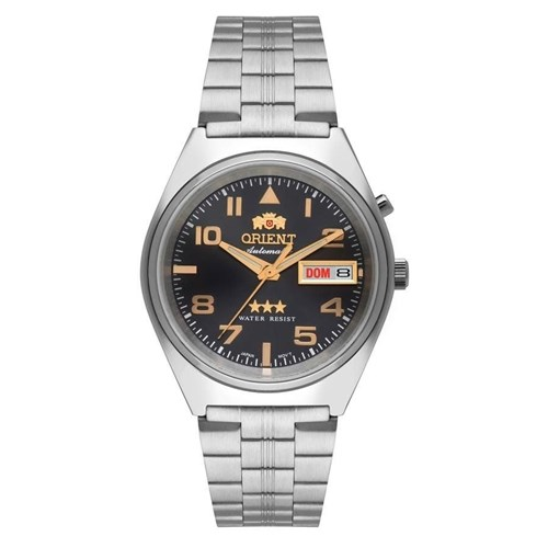 Relógio Masculino Orient Automático Prata 469SS083G2SX