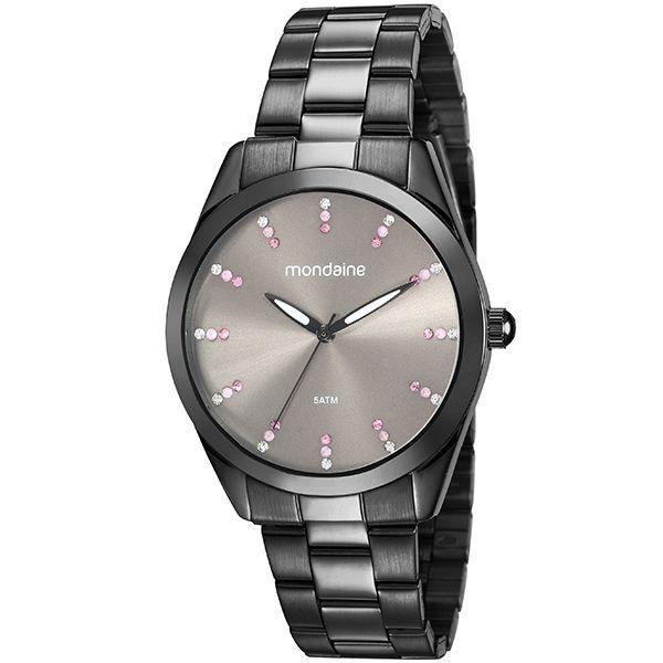 Relógio Mondaine Feminino Preto 53672lpmvpe2