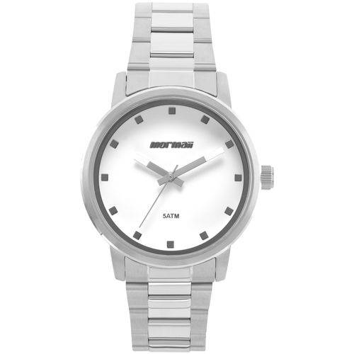 Tudo sobre 'Relógio Mormaii Loyal Prata com Branco'